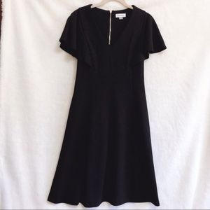 Calvin Klein Black Fit & Flare Short Sleeve Dress